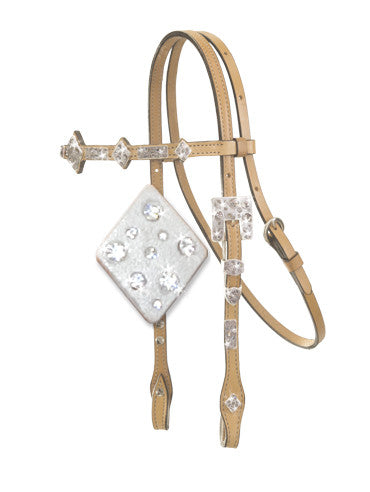 Diamond Ice Show Headstall by Alamo Saddlery