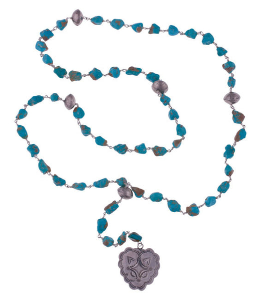 Turquoise Rosary Necklace by 3 Angels