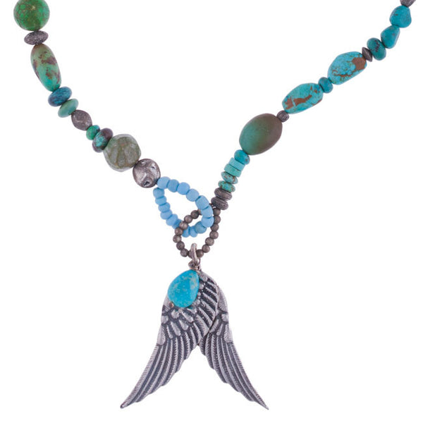Turquoise Wings Necklace by 3 Angels