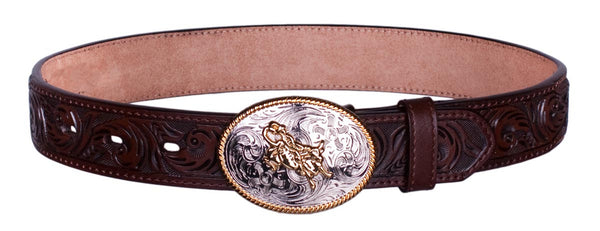 Bull Rider Tooled Belt by 3D Belt Company