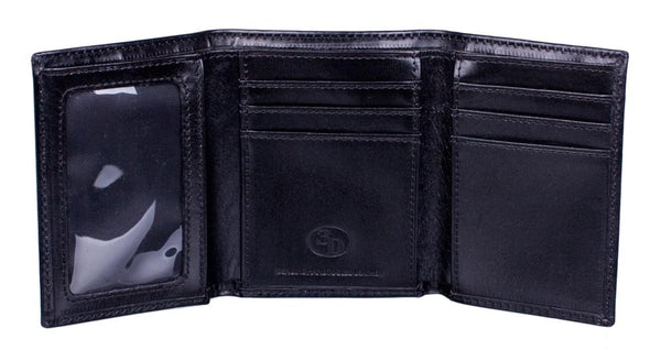 Trifold Basketweave Wallet by 3D Belt Company