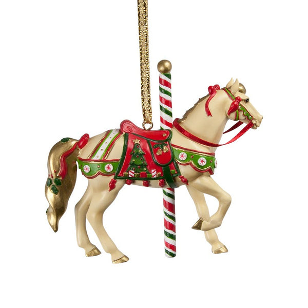 Christmas Carousel Ornament by Trail of Painted Ponies