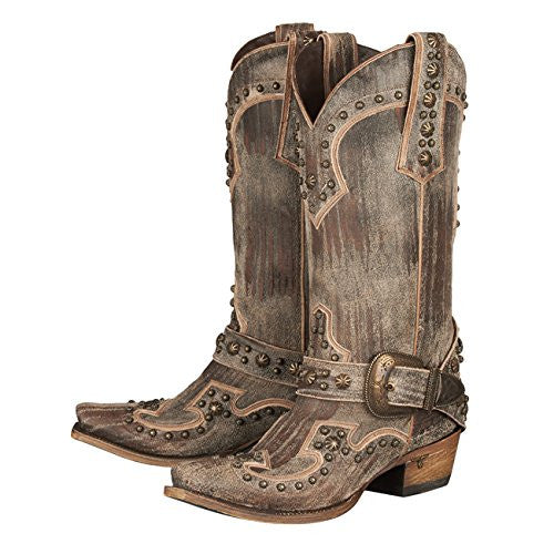 Your Harness Cowboy Boot in Brown by Lane Boots