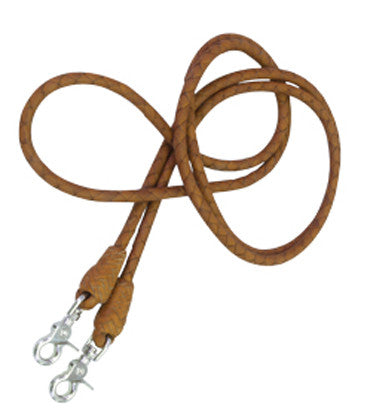 Plaited Roping Reins in Toast by Alamo Saddlery
