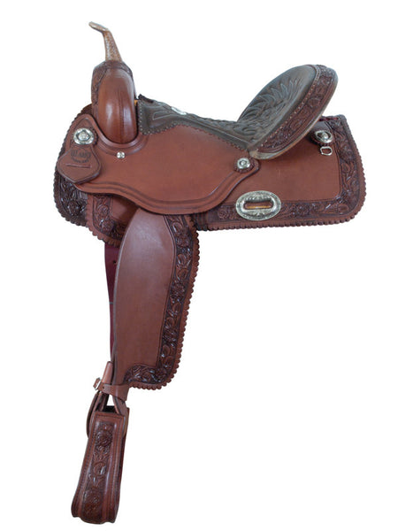 Rose Barrel Racing Saddle by Alamo Saddlery