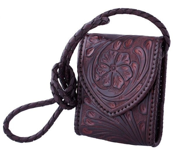 Braided Sling Bag in Dark Brown by Appaloosa Trading Co.