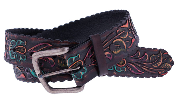 Painted Rosette 2 Belt by Appaloosa Trading Co.