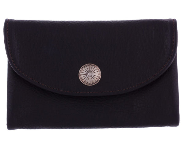 Silverton Clutch Wallet in Chocolate by Appaloosa Trading Co.