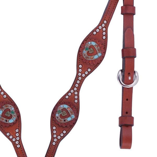 Scalloped Heart Concho Breast Collar by Alamo Saddlery