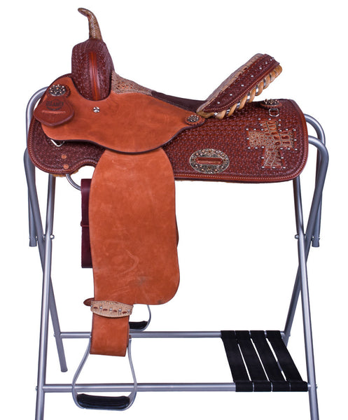 Gator Cross Barrel Racing Saddle by Alamo Saddlery