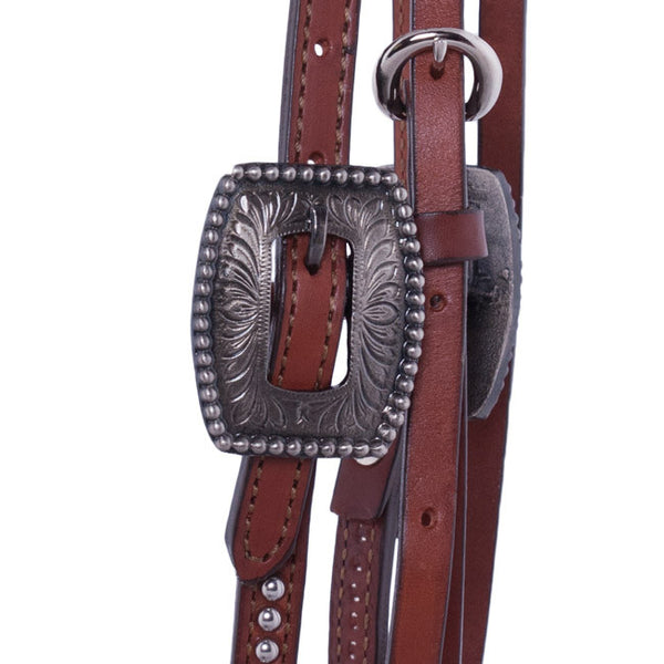 Scalloped Heart Concho Headstall by Alamo Saddlery