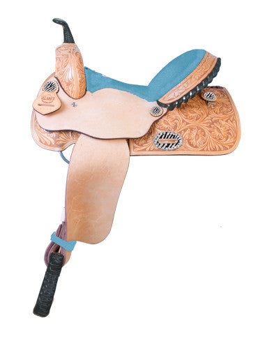 Customized Exotic Seat Barrel Racing Saddle by Alamo Saddlery