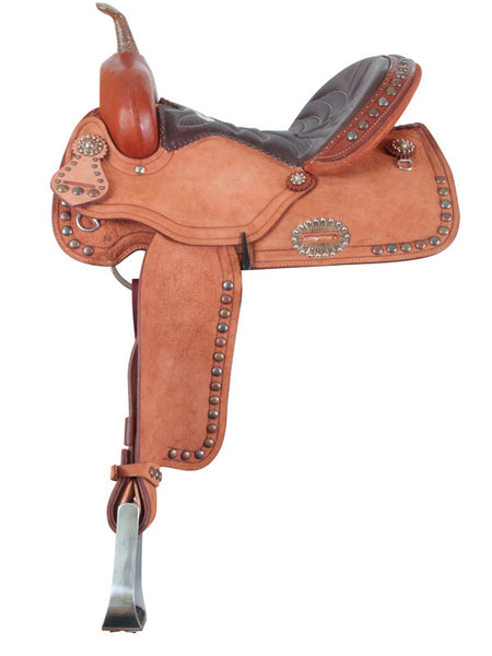 Vintage Barrel Racing Saddle by Alamo Saddlery