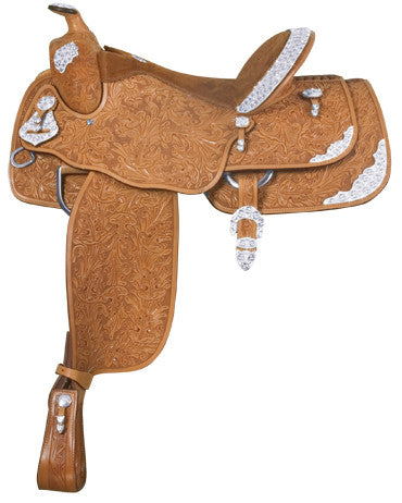 Floral Tooled Show Saddle by Alamo Saddlery