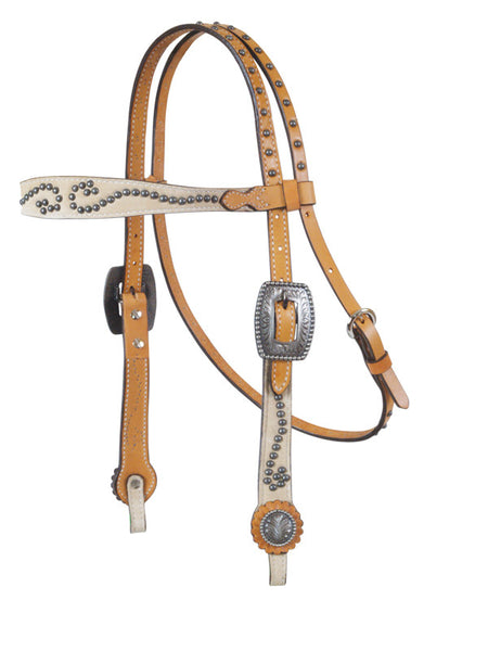 Vintage Chamois Headstall by Alamo Saddlery