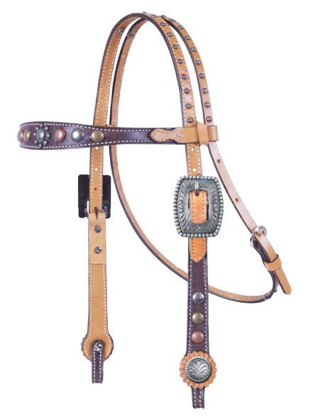 Vintage Chocolate Headstall by Alamo Saddlery