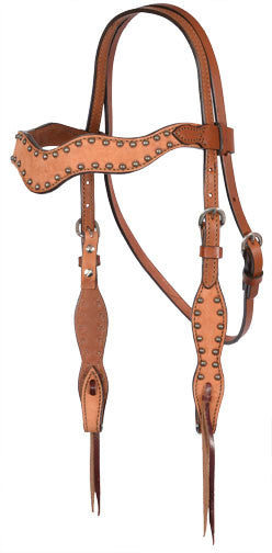 Wave Tan Headstall by Alamo Saddlery