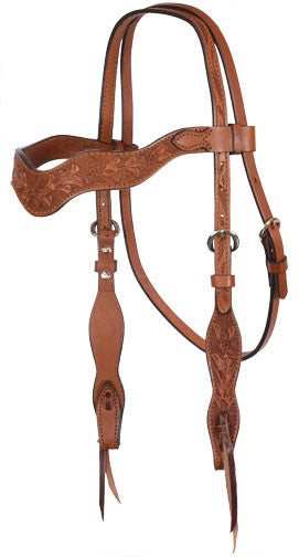 Wave Tooled Headstall by Alamo Saddlery