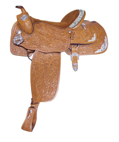 Oakleaf Tooled Show Saddle by Alamo Saddlery