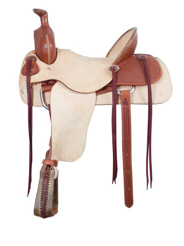 Roughout Ranch Roper Saddle by Alamo Saddlery