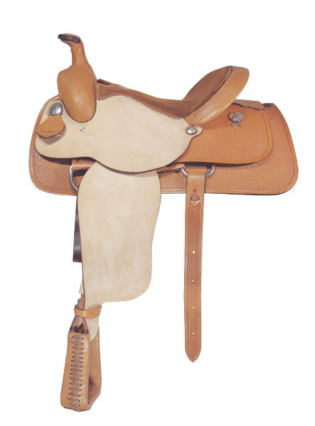 Basket-Tooled Bowman Roper Saddle by Alamo Saddlery
