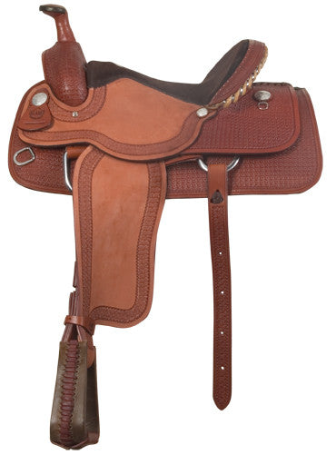 Waffle-Tooled Close Contact Bowman Roper Saddle by Alamo Saddlery
