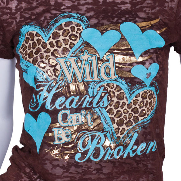 Wild Hearts Tee by Attitude Tees