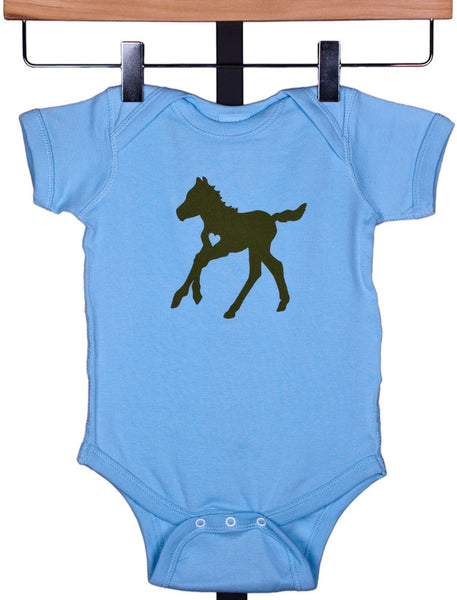 Frisky Foal Onesie for Boys by Wyo Horse