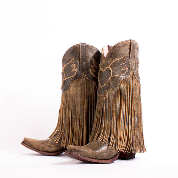 Dreamer Cowboy Boot in Dark Brown by Junk Gypsy Co.
