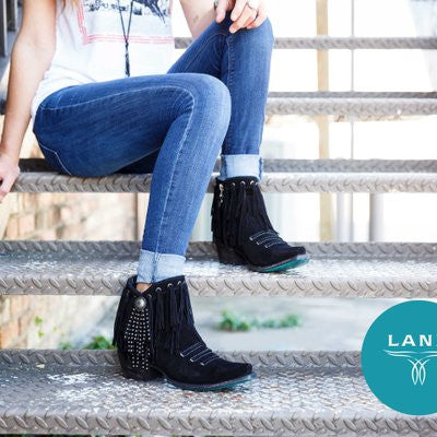 Suzanne Cowboy Boot in Black by Lane Boots