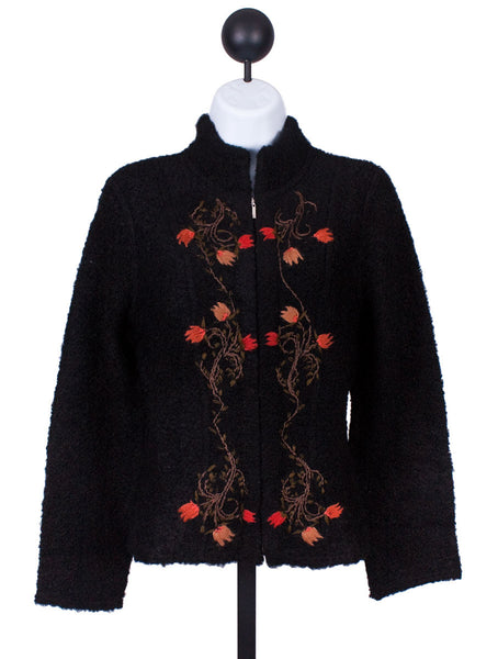 Embroidered Boucle Sweater by Caamano Sweaters