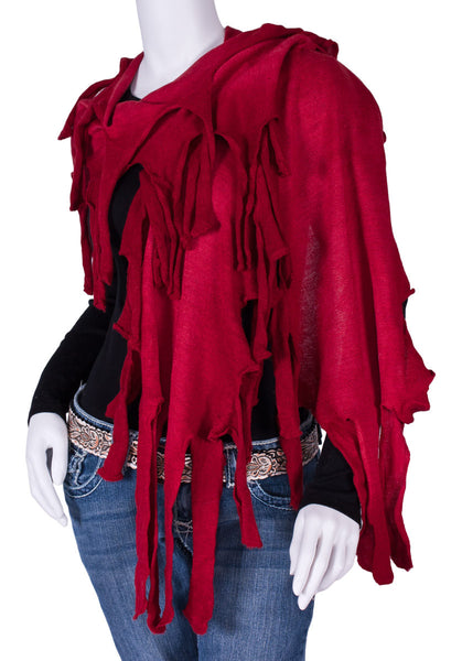 Pirata Scarf in Dark Red by Caamano Sweaters