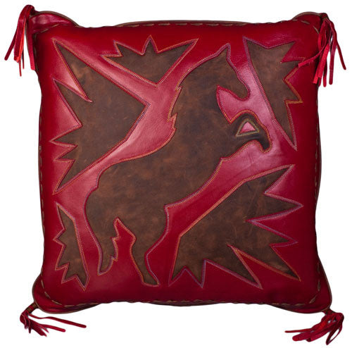 Red Horse Stitched Pillow by Carroll Companies