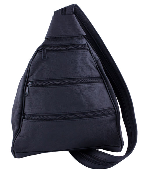 Three-Front Backpack in Black by Carroll Companies
