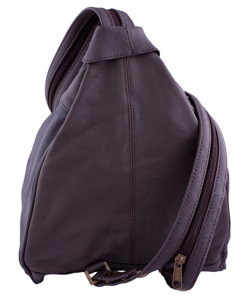 Three-Front Backpack in Brown by Carroll Companies