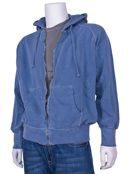 Frayed Full-Zip Hooded Sweatshirt by Comfort Colors