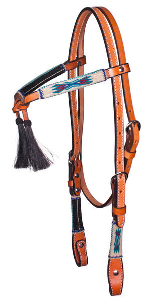 Horsehair Crosstie Bridle in Rodeo Special by Colorado Horsehair