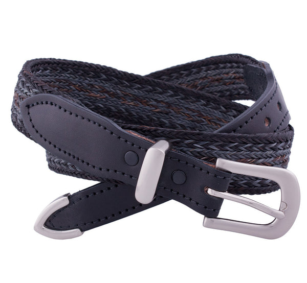 Casual Braided Horsehair Belt in Black by Colorado Horsehair
