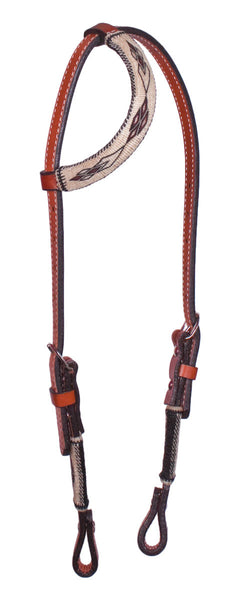 Horsehair One-Ear Bridle in Brown Diamond by Colorado Horsehair