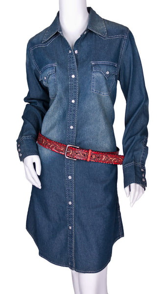 Cowgirl Justice Denim Shirtwaist Dress by Cowgirl Justice