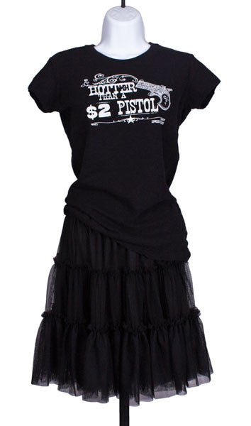 Tiered Net Skirt in Black by Cowgirl Justice