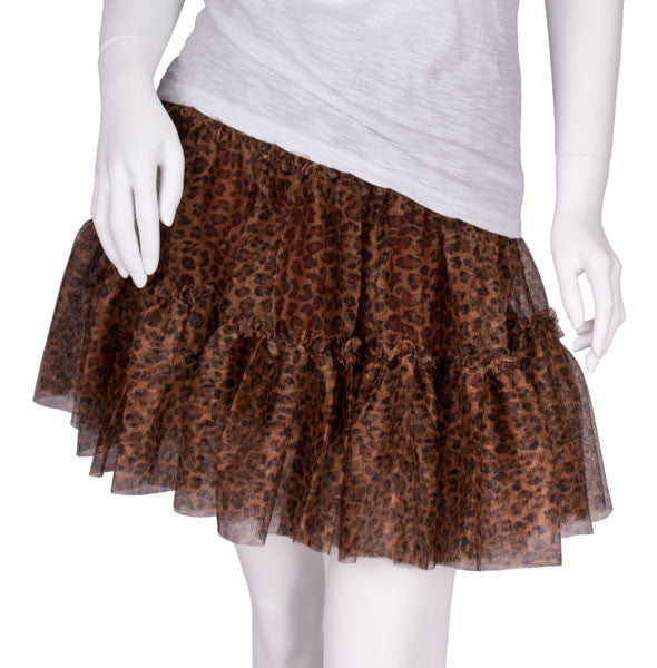 Tiered Net Skirt in Cheetah by Cowgirl Justice