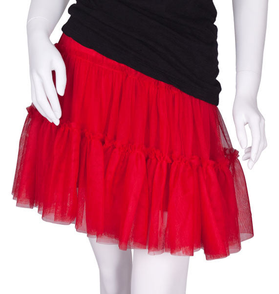 Tiered Net Skirt in Red by Cowgirl Justice