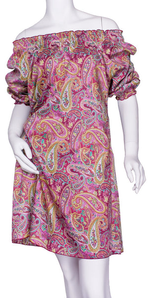 Paisley Peasant Dress by Cowgirl Justice