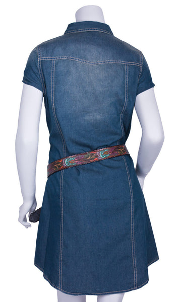 Ranch Denim Dress by Cowgirl Justice