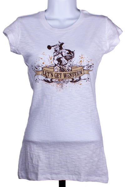 Let's Get Western Tee by Cowgirl Justice