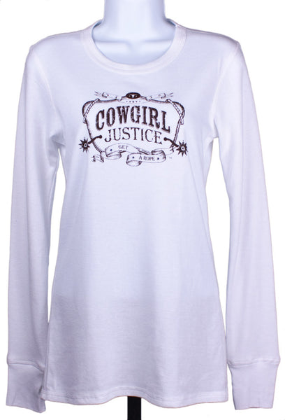 Cowgirl Justice Thermal Tee by Cowgirl Justice