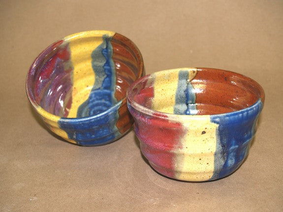 Stoneware Chili Bowl in Multi-Blue by Davy Pottery