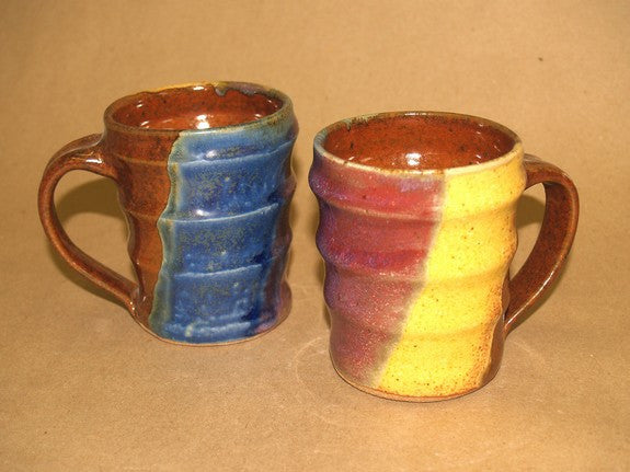 Stoneware Mug in Multi-Blue by Davy Pottery