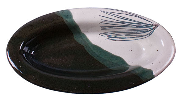 Pine Needles Oval Baker by Davy Pottery